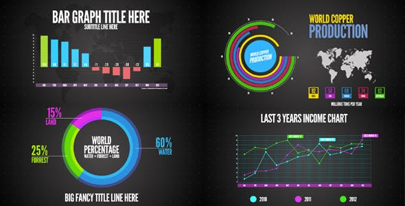 infographics ae template